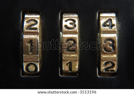 briefcase lock closeup - stock photo