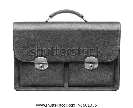 briefcase on a white background - stock photo