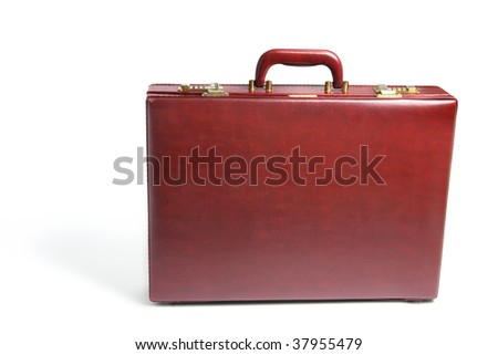 Briefcase on Isolated White Background