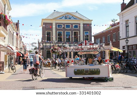 BRIELLE, THE NETHERLANDS - AUGUST 8, 2015: Summer in Brielle, also known as Den Briel, in South Holland, The Netherlands - stock photo