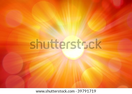Bright abstract background. Hot yellow and orange tones - stock photo
