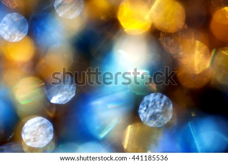Bright abstract background with blurred multicolored flares - stock photo