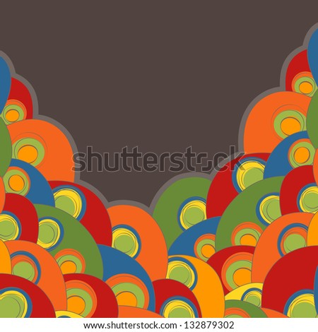bright abstract card, rasterized vector. Vector file is also available in my portfolio.