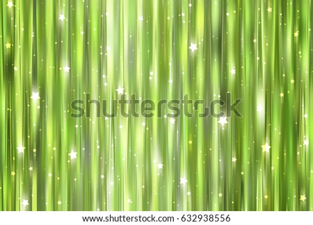 Bright abstract green background with glitter. illustration beautiful.