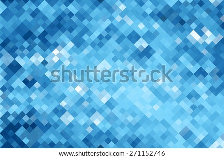 Bright abstract mosaic blue background with gloss - stock photo