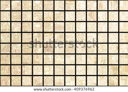 Bright abstract mosaic golden background with gloss