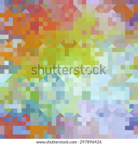 Vector cute pixel art abstract geometric stock vector for Cute abstract art