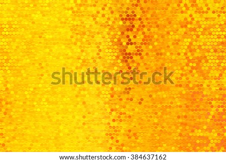 Bright abstract mosaic orange background with gloss - stock photo