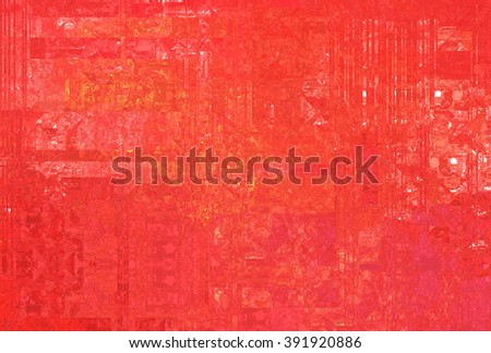 Bright abstract mosaic red background with gloss