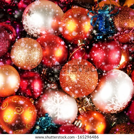 Bright and colorful Christmas balls  - stock photo