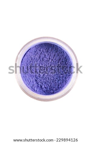bright and colorful eye shadows on white background isolated - stock photo
