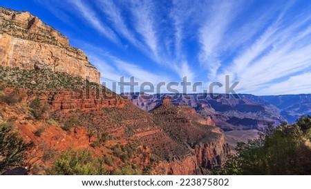 Bright Angel trail - Grand Canyon - stock photo