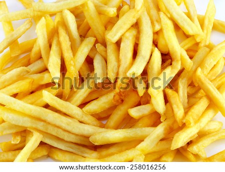bright background fast food french fries