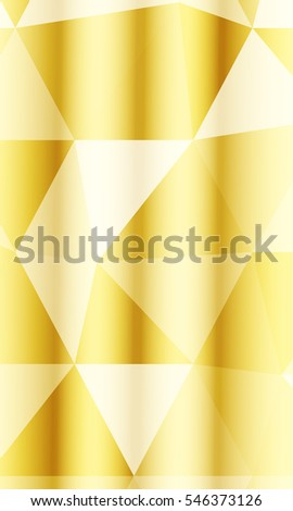 polygon background gold color vector illustration stock vector  bright background for greeting cards polygon background gold color raster illustration vertical banner