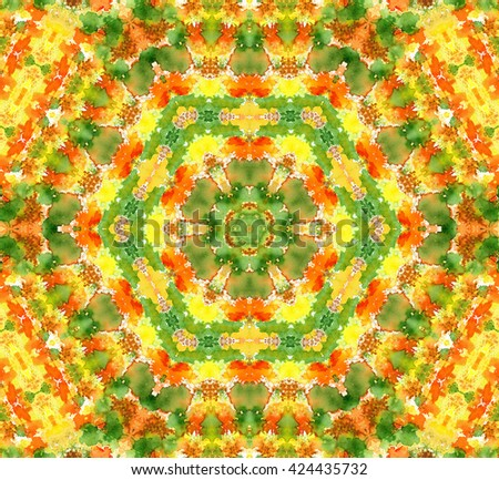 Bright background with abstract watercolor pattern - stock photo