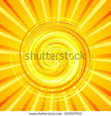Bright background with cheerful sun. Raster - stock photo