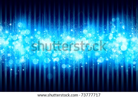 Bright blue abstract background - stock photo