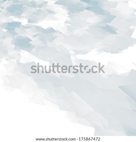 bright blue abstract background flying pieces of paper texture - stock photo