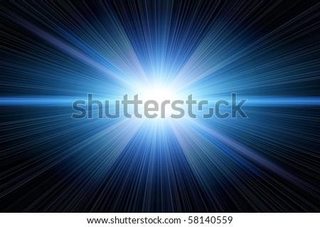 bright blue star - stock photo