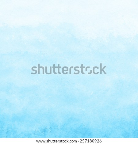 bright blue watercolor texture background, hand painted - stock photo