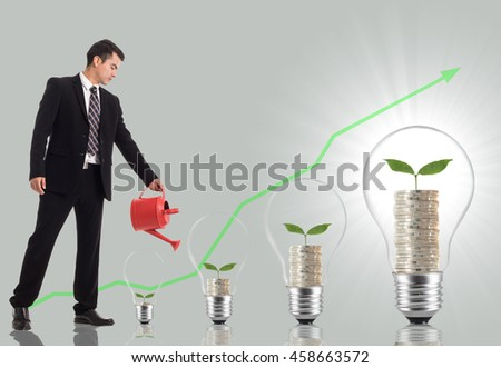 Bright brain idea bulb cocept creative and innovation for your business. - stock photo