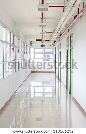 bright clean hallway - stock photo