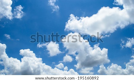 bright clouds with blue sky - stock photo