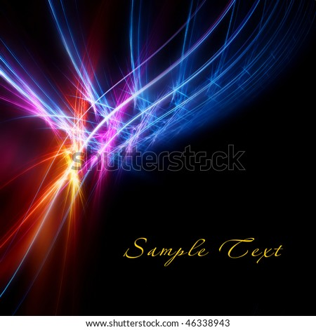 Bright color fractal - stock photo