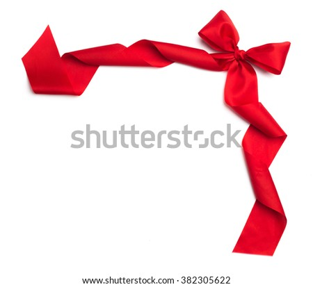 Bright color ribbon isolated on white background