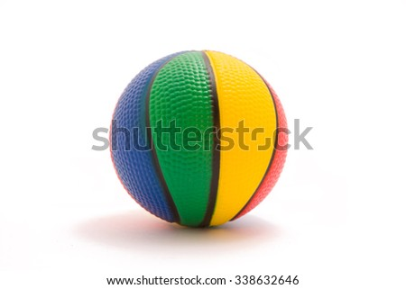 bright colored ball for the game, isolated on a white background