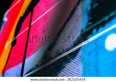 Bright Coloured Wall Lights : Lights Details Led Screen Close Stock Photo 299412605 - Shutterstock