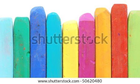 bright colored pastels - stock photo