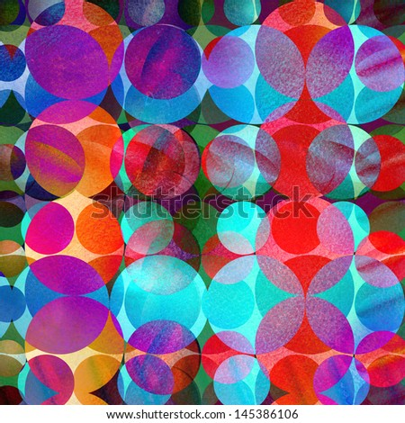bright colored watercolor circles on a dark background