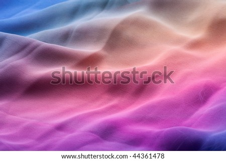 Bright colored waves. Abstract image. - stock photo