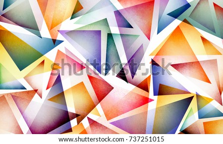bright colorful abstract background design layersのイラスト素材