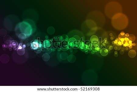 Bright colorful abstract bokeh circles for background use - stock photo