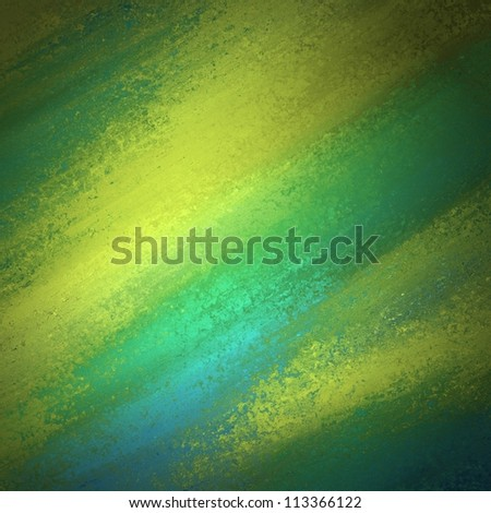 bright colorful background color or abstract multicolor background in green or gold colors for fun brochure or poster or web template background with gradient distressed blue grunge background texture