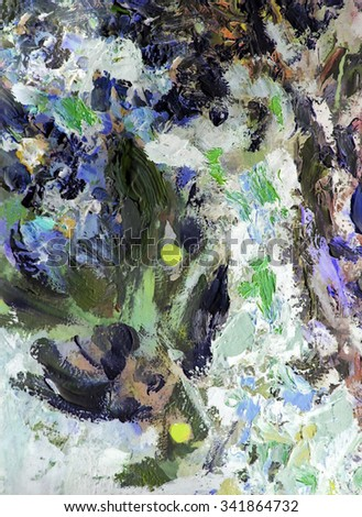 bright colorful background, fragment of painting in the style impressionism                            - stock photo