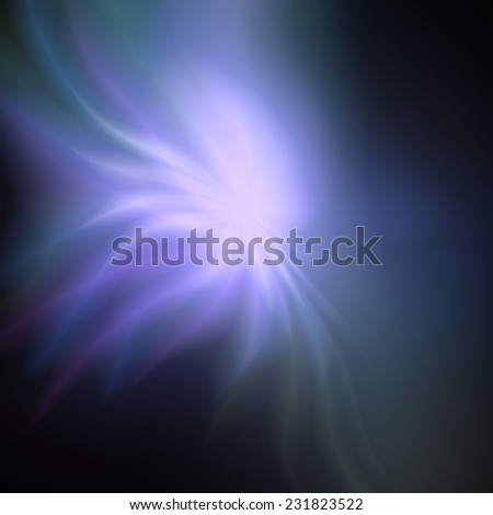 Bright colorful glow explosion of fireworks, huge energy release in black background - stock photo