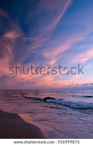 bright colors of the sky over the sea. colorful sky over the sea