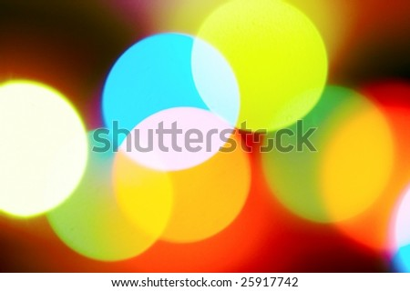 bright colour rays of the light