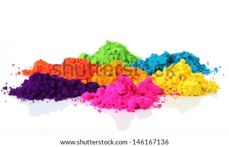 Bright colours for holi festival - stock photo