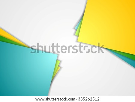Bright corporate abstract contrast background - stock photo