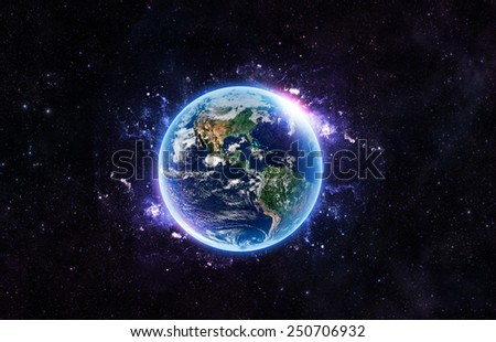 Bright Earth - Elements of this Image Furnished by NASA