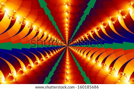 Bright fractal design that is great for background. - stock photo