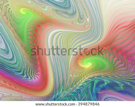 Bright galaxy. Abstract colorful drops on black background. Fantasy fractal texture for postcards or t-shirts. - stock photo