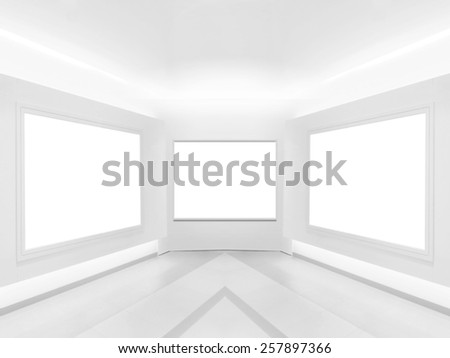 Bright gallery - stock photo