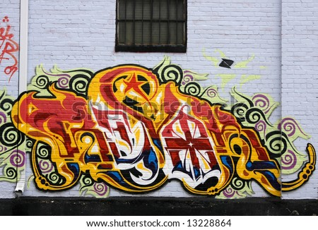 Bright Graffiti Art - stock photo