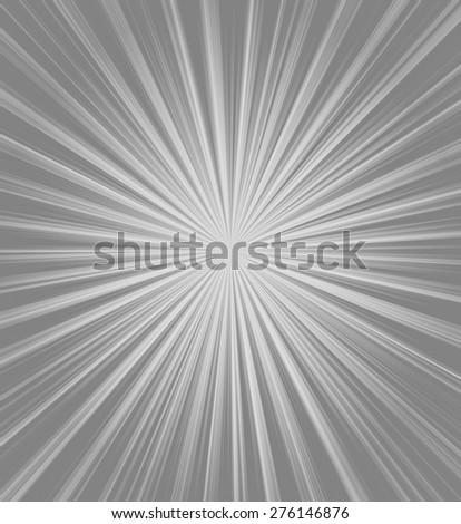 Bright gray starburst - stock photo