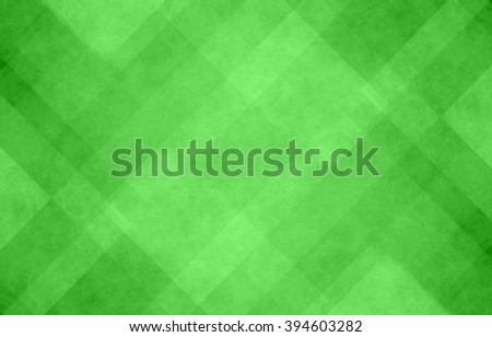 bright green and white abstract background with angled lines, blocks, squares, diamonds, rectangles and triangle shapes layered in checkered style abstract pattern - stock photo